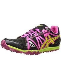 ASICS Women's Hyper Rocketgirl XCS Spike Shoe Black/Hot Pink/Flash Yellow 5 B(M) US