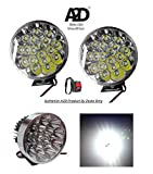 #2: A2D 18 LED 54 Watts Cree LED Aux Bike Fog Lamp Light Set of 2 White with Switch-Kinetic GF Lazer