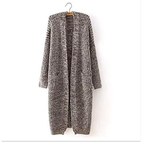 A maglia. cappotto e si verificano quando l'ago lungo maglia cardigan lana cappotto . coffee . s