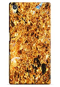 Omnam Fire Pattern Printed Designer Back Cover Case For Sony Xperia Z5 Premium