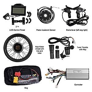 """Vogvigo Hinterrad Umbausatz Elektrofahrrad Nachrüstsatz E-Bike Conversion Kit Nabe mit LCD-Anzeige 26"""""""