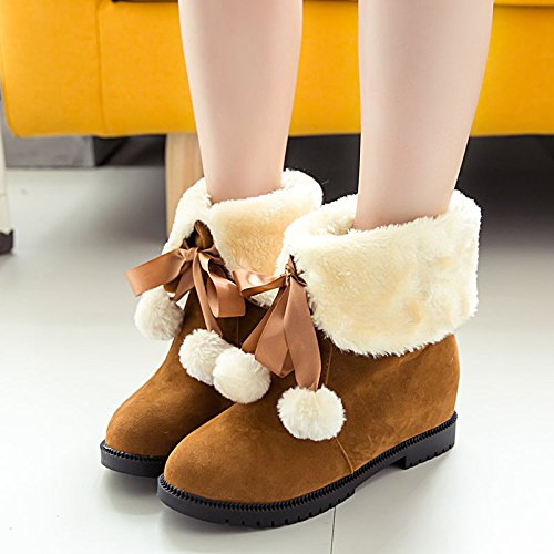 Zapatos Planos De Nieve De Otoño E Invierno Con Zapatos De Corte Más Cortos Claret