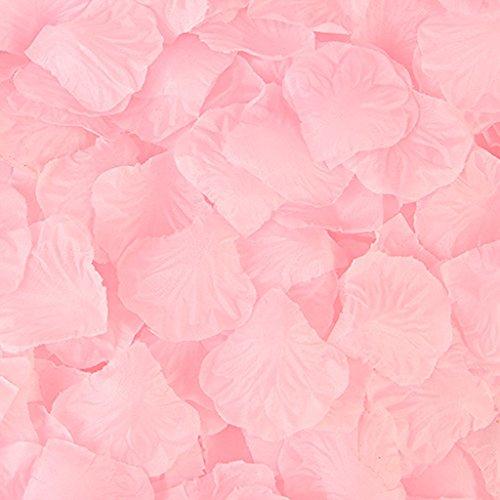 Qiuxiaoaa 2000 Pezzo Simulazione Rose Petali Finti Mano Cospargere Fiore Camera da Letto Sala Matrimonio Disposizione Decorazione Confessione Fare Luce Romantica Stringa Rosa Chiaro