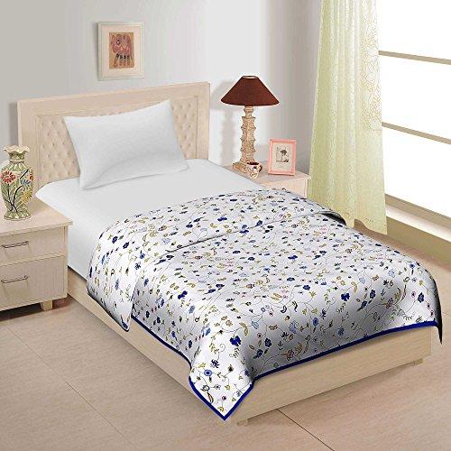 Cliq Designer Premium Cotton Camric Reversible Dohar - Single Bed Set 1
