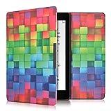 kwmobile Elegante borsa di ecopelle per il > Kobo Aura ONE < in Design cubi arcobaleno multicolore verde blu - kwmobile - amazon.it
