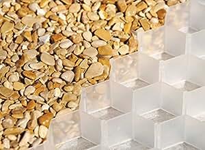 Bera - Panneau de stabilisation pour gravier 40 x 80 cm - 0.3 m²