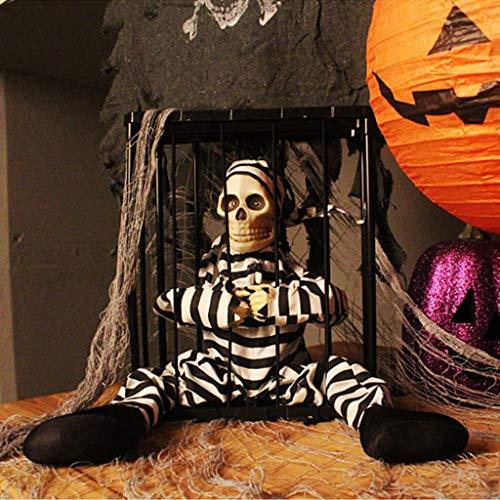 JIBO Gran Prisionero Colgando Fantasma De Halloween Decoración Apoyos Fiesta De Baile Casa Embrujada Diseño Terror Cortina Fantasma