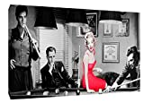 ARTSPRINTS Elvis Presley Marilyn Monroe, James Dean Snooker gerahmt Leinwand Kunstdruck, 40 x 30 inch-18mm depth