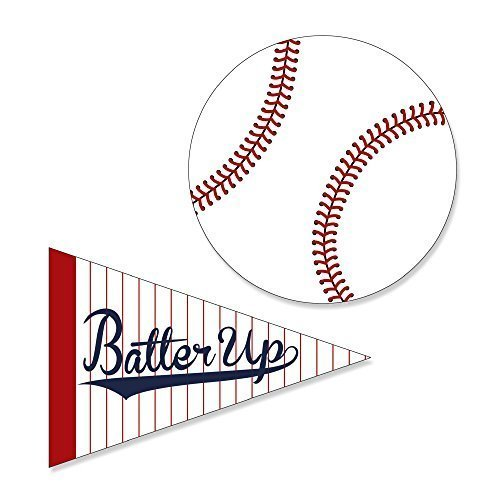 Batter Up - Baseball DIY Shaped Party Cut-Outs - 24 Count by Big Dot of Happiness