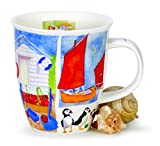 (Puffins) - Dunoon Bone China Sea Breeze Collection by Emma Ball Nevis Shape Mug (Puffins)
