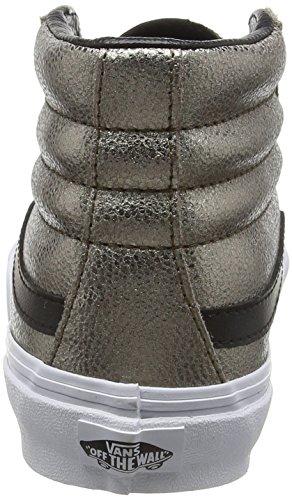 Vans  SK 8 Hi Slim, Col montant mixte adulte - (Metallic Leather) bronze/black