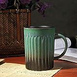 XTSHOP Tazza Mug Tazza di Ceramica di Alta qualità Fatta a Mano Tazza di caffè di retrò Gradiente d'Epoca Tazza di caffè e Tazza Tazza di Porcellana Classica Bicchieri per Bevande