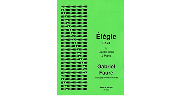 Elegie Op.24  Double Bass and Piano Gabriel Fauré Book Only RM686