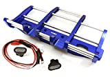 Integy RC Modell Tuningteile C27116BLUE CNC Legierung Vorne Bumper w/ LED für Tamiya 1/14 King Hauler & Globe Liner
