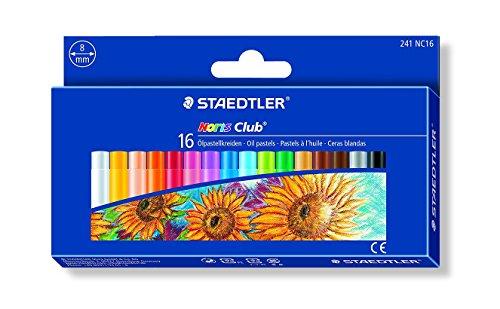 Staedtler 241NC16 – Ceras blandas, Caja con 16 colores surtidos
