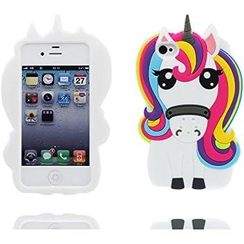 Demarkt Coque Panda Etui Housse pour iPhone 4 4S Case Cover Panda+3 Stylo Mini Screen Pen Blanc