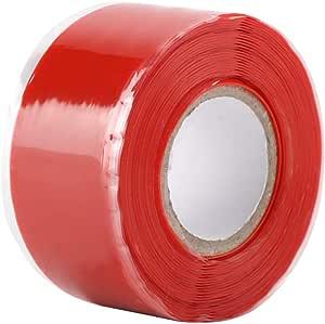 Farbe : Black Silikonband Rohrreparaturband Selbstklebendes Silikonkautschukband Wasserdichte Dichtungsreparatur for Wasserrohrschlauch