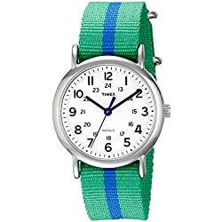 Timex Men's Weekender Slip Through Quartz Watch with Analogue Display and Nylon Strap