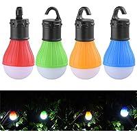 GreeSuit 4 paquetes LED lámpara camping al aire libre portátil colgante llevado tienda de bombilla de pesca linterna lámpara antorcha linterna de la lámpara de noche para senderismo