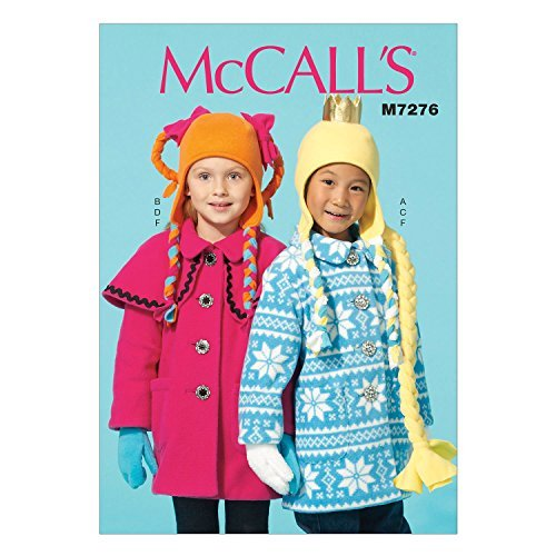 McCall's Patterns M7276 Children's/Girls' Coats, Hat, Scarf and Mittens, Size CL (6-7-8) by McCall's Patterns