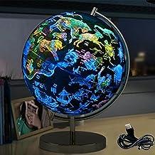 YAOBAO Magnetschwebebahn Floating Konstellation Globus 20cm Beleuchtete Weltkugel Nachtsicht Sterne Rotierende Astronomie Geographic Map