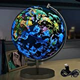 Magnetic Levitation Constellation Globus - 2 in 1 World Globe & beleuchtete Konstellation Karte pädagogisches geographisches Lernen Spielzeug