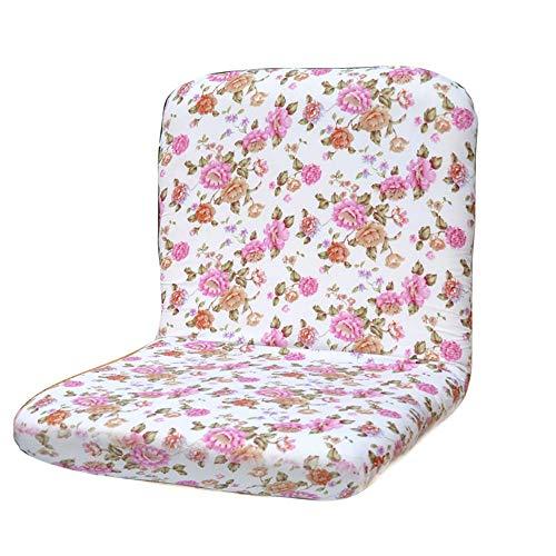 er Boden-Stuhl mit justierbarer Rückenlehne Dickes Sitz-Kissen faules Aufenthaltsraum-Sofa (Farbe : Pink) ()