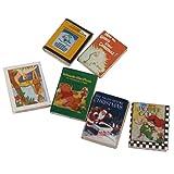 Sharplace 6 Pcs 1:12 Puppenhaus Miniatur Bücher Modell Puppenstube Zubehör - 2,5 x 1,9 x 0,3 cm