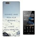003376 - Quote Running away problems snowy mountains Design