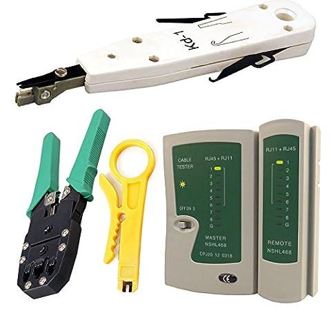 Kabalo Network LAN Kit: RJ45 Cat5e RJ11 PC Cable Tester