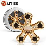 Waitiee Fidget Hand Spinner Roulement En acier Haute Vitesse - Tourne 2-3 Minute - Jeu Sensoriel Tri-Spinner Fidget Toy Enfant ou Adulte