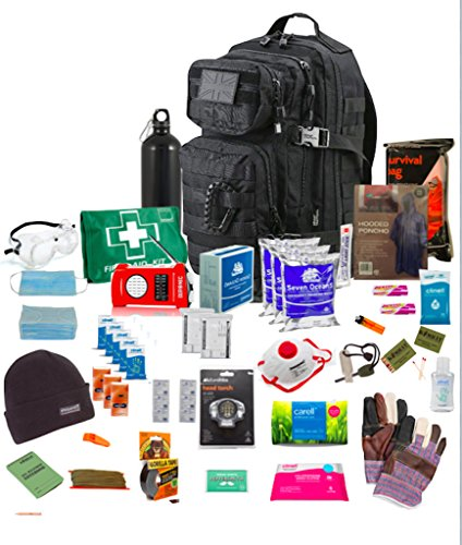Bug Out Bag (Black) One Person 72hr Emergency...