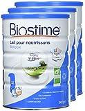 Biostime Lait Infantile 1er Âge Biologique 900 g - Lot de 3