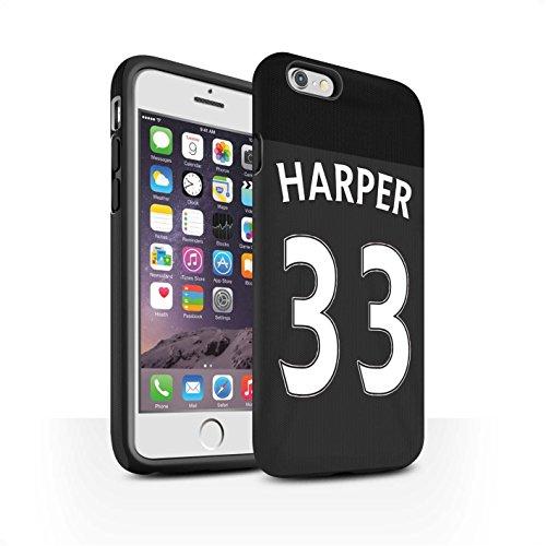 Officiel Sunderland AFC Coque / Matte Robuste Antichoc Etui pour Apple iPhone 6S / Pack 24pcs Design / SAFC Maillot Extérieur 15/16 Collection Harper