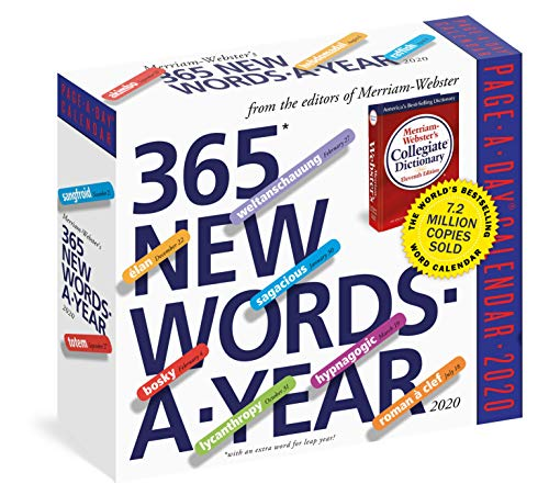 365 New Words-A-Year Page-A-Day Calendar 2020