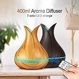 SXChmIX Luftbefeuchter Diffusor G3 Farbwechsel Ultraschall Luftnebel Ätherisches Öl Aroma Diffusor - * UK-Stecker 400ml 2#