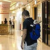 Hund Rucksack, Dog Bag Carrier Haustier für Große Mittel Kleine Hunde Atmungsaktive Reise Hundebeutel für Reiten Wandern Schwarze l