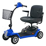 Roma Medical (Shoprider) New! Mikra Car Boot Travel Mobility Scooter - Blue