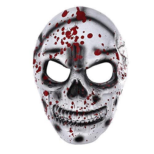 Plus Herren Für Clown Erwachsene Kostüm Größe - Masks Halloween Day of The Dead 3D Weicher PU-Schaum mit blutigem Blutdruck a