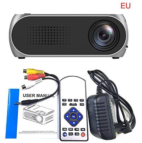 SO-buts Mini Beamer,Full 1080P Video LCD Mini HD Projektor, YG320 Mini Tragbarer LED Projektor Unterstützung HDMI,USB Kino Multimedia, Heimkino Kino Multimedia Projektor (Grau)