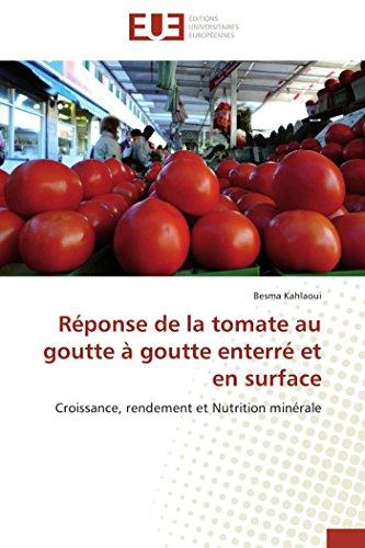 Réponse de la tomate au goutte à goutt...