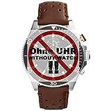 Fossil del cinturino doppio braccialetto LB-CH2944 Original di ricambio Band ch 2944 Cinturino in pelle 22 mm marrone