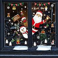 Pegatinas Navidad para Ventanas, Pegatinas de Navidad, Pegatina Copo de Nieve,Decoración de Navidad para Ventana/Puerta de Casa y Tienda (Pegatinas Navidad-1)