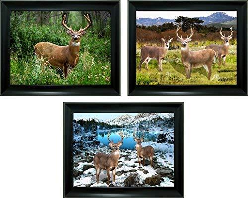 Lee 's Collection Hirsch 3D Bild und Rahmen, schwarz