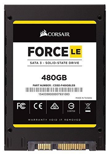 Corsair Force LE CSSD-F480GBLEB SSD da 480GB, Nero