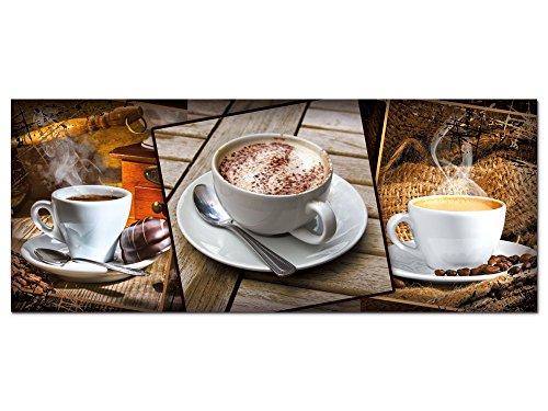 GRAZDesign Wandbild Küche Kaffee Cappuccino - Acrylglasbild - Bilder aus Acryl Glas XXL - Bar Dekoration - freischwebende Optik / 125x50cm / 100083_002_01_04