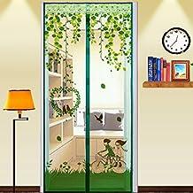 Mosquitera para puertas de cierre magnético, cortinas antiinsectos, de malla, accesorio de verano