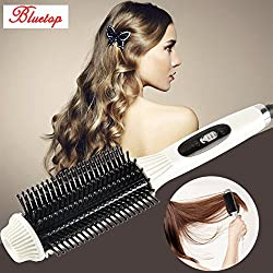 Fast 2 In 1 Comb Hair Straightener&Curler Flat Iron Portable Ceramic Electric Hair iron Straightening Brush Curling Styling Tool