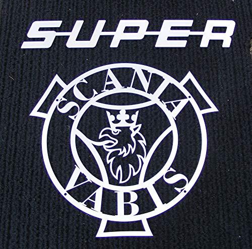 Unbekannt Super + VAGN Aktie bolaget I Södertälje Front Logo aus Spiegel Edelstahl Poliert für Truck Alle Series Trucker Schild Kabine Dekoration Zubehör