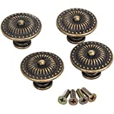 Dekorative Vintage Rund Möbelknöpfe Bronze Schranktür Schublade Packung von 4